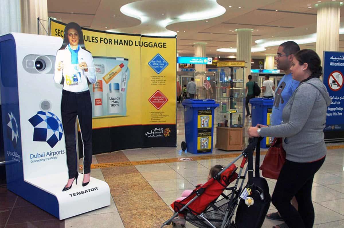 tensator virtual assistant in dubai airport