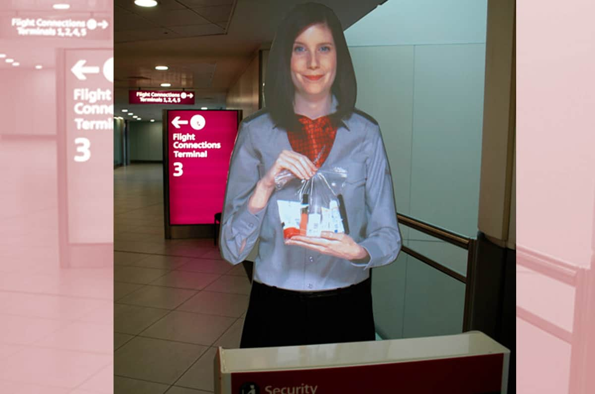 tensator virtual assistant installed in heathrow airport