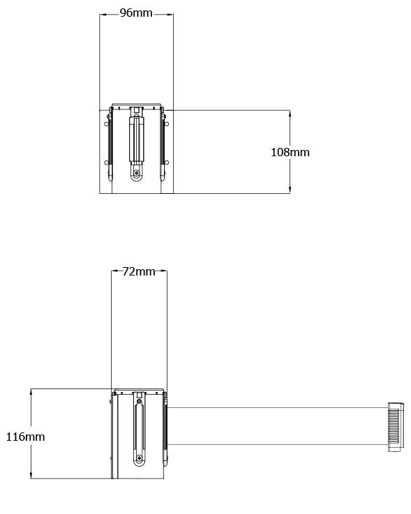 Tensabarrier-Technical-Drawing-896-Heavy-Duty-Wall-Unit-1