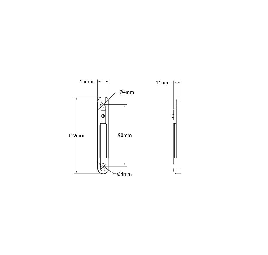 Tensabarrier-Technical-Drawing-Wall-Receiver-Clip